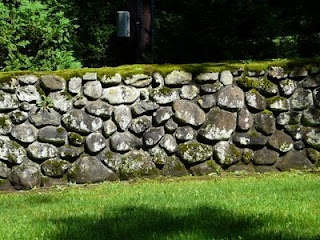 a Rock Wall in Rockport