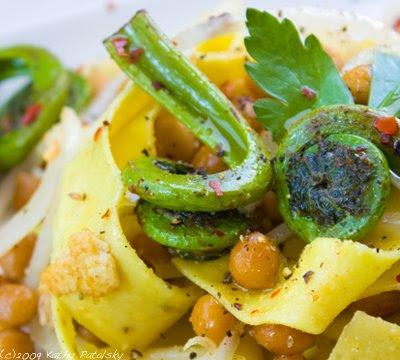 Fiddleheads recipe pasta