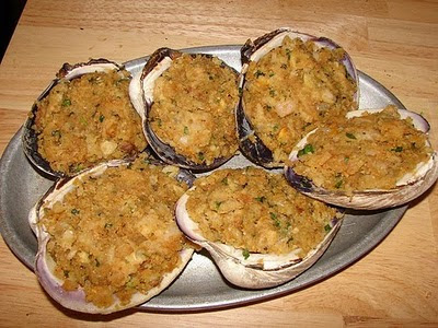 Six Degrees of Preparation: Baked stuffed clams for Christmas Eve