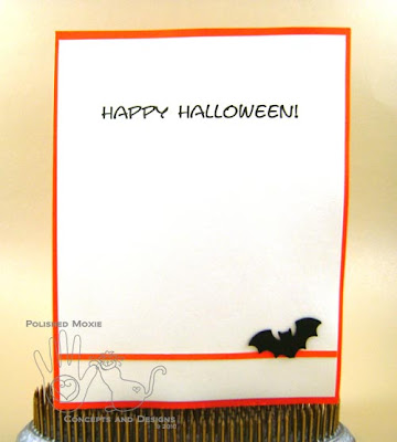 Picture of an alternate inside of the Halloween card