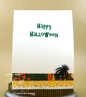 Picture of the inside of the Halloween card