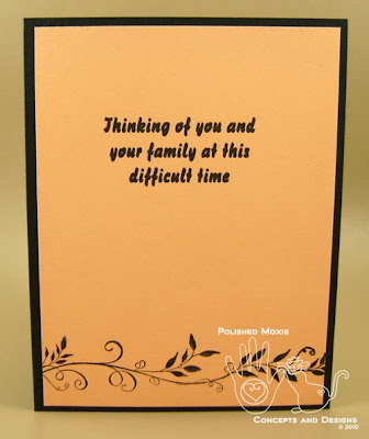 Picture of the inside of the sympathy card