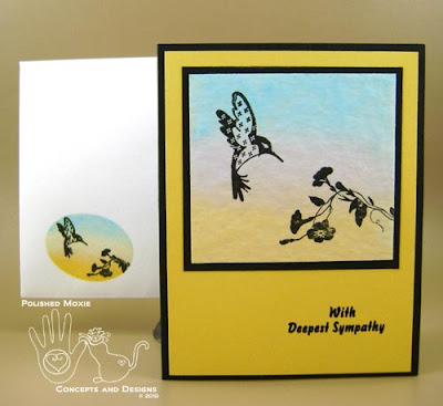 Picture of second sympathy card and its coordinating envelope