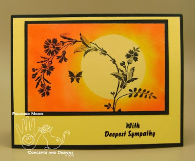 Picture of the front of the sympathy card