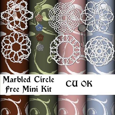 Free Mini Kit Marbledcircle_wintercollab_preview