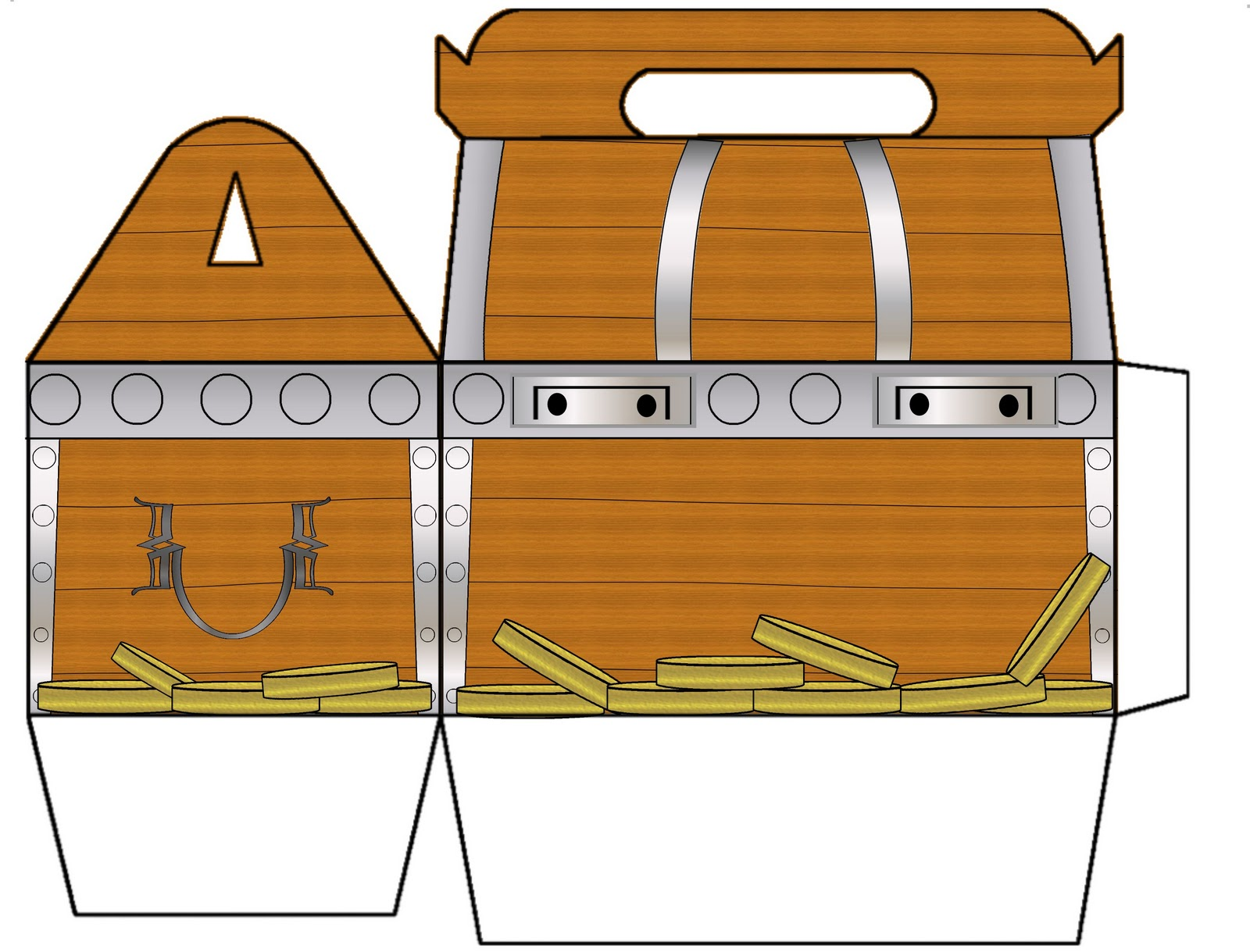This is an image of Effortless Printable Treasure Chests