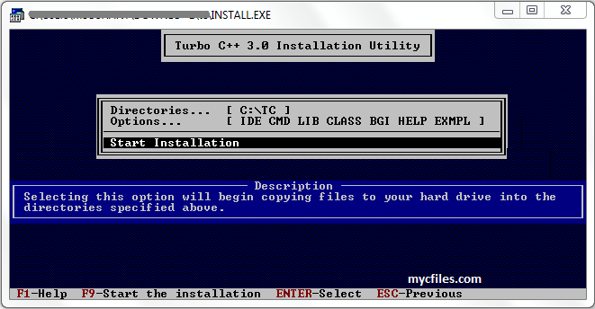 How To Install Turbo C Compiler My C Files