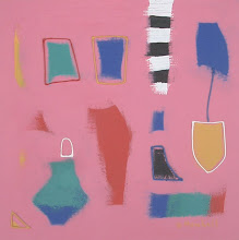 """Pink Abstract""  23cm x 23cm"