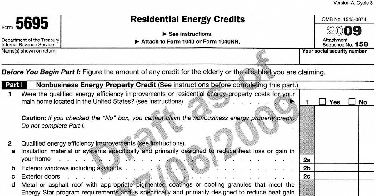 I Love Metal Roofs Draft Tax Form 5695 For Roof Tax Credit