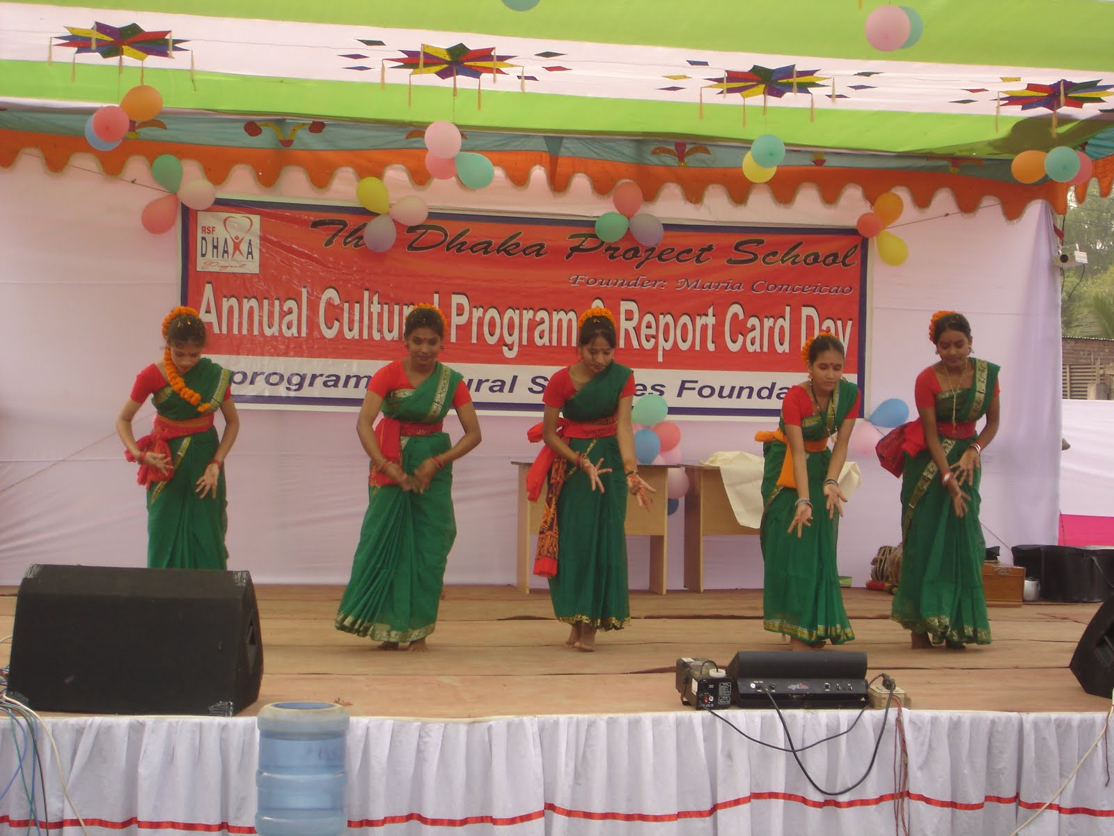 The dhaka project annual cultural program report card day for Annual day stage decoration images