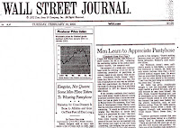 Wall Street Journal Article: Kingsize Not Queen-More Men Taking to Wearing Pantyhose (Feb. 2002)