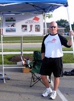 Steve Newman manning the ActivSkin tent at Hilliard Health & Fitness Fair