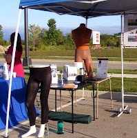 The ActivSkin display included brochures, articles, samples and mannequins
