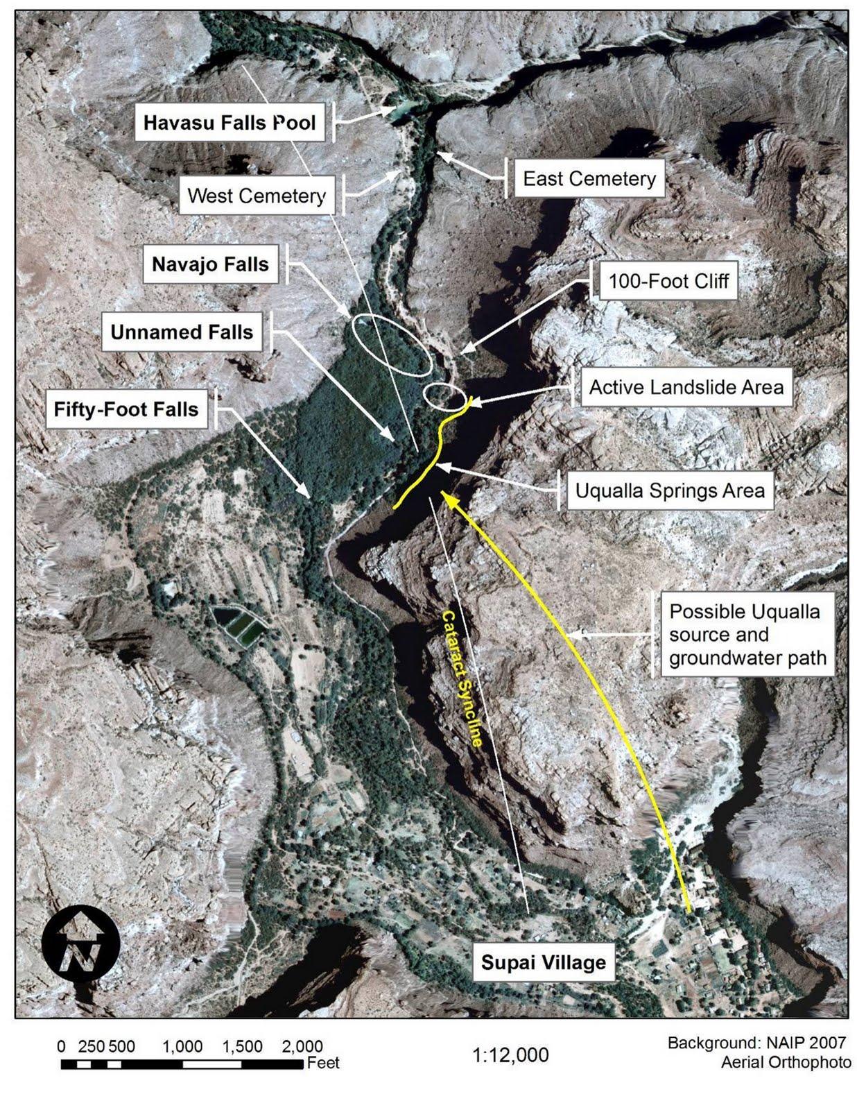 Arizona Geology Flood Warning For Cataract Canyon Supai