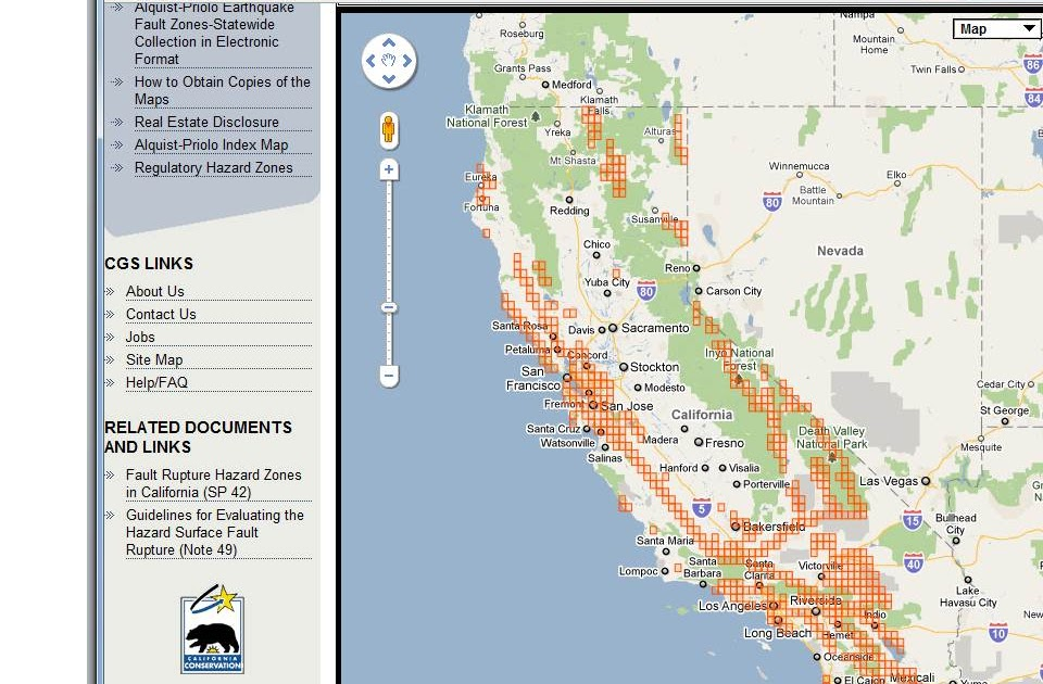 State Geologists Californias Earthquake Fault Zone Maps Online - California fault map
