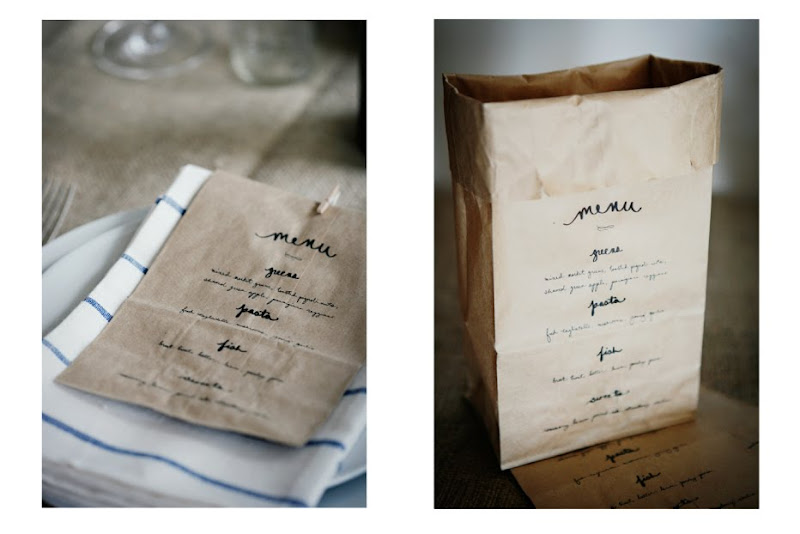 Detail To Love: Paper Bag Menus via TheELD.com