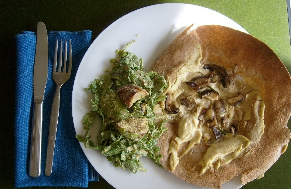 Café VegNews: Cookbook Week: Mushroom Pizza & Caesar Salad
