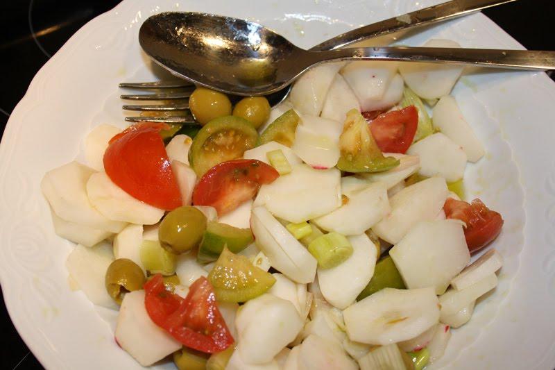 Come en casa dos ensaladas con r banos - Banos de sal y vinagre ...