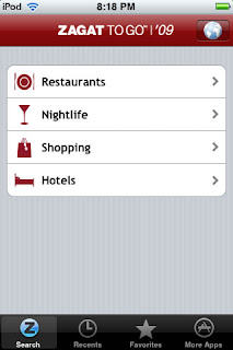 Zagat Survey and Handmark Launch Zagat To Go for iPhone