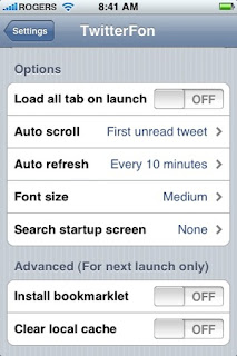 Twitter with iPhone