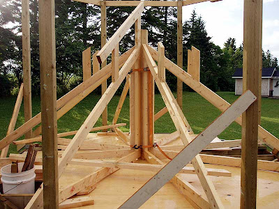 The start of the secondary trusses.