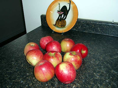 We picked these Honey Crisp apples at a local orchard last week. This will be the first time I've tried them in a pie.