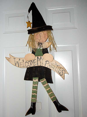 This witch welcomes everybody who comes to the front door.
