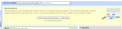 Google Calendar Sneak Preview Invitation