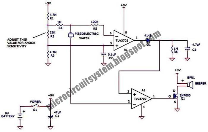 door knock beeper circuit