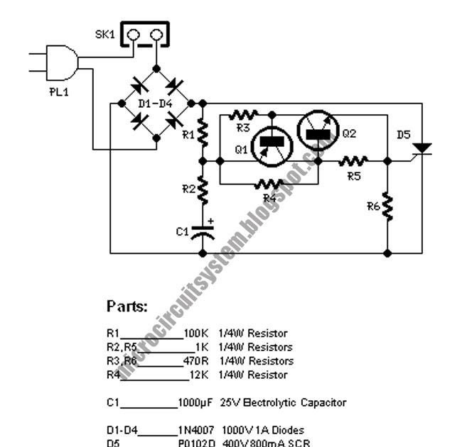 220vac christmas flashing light circuit