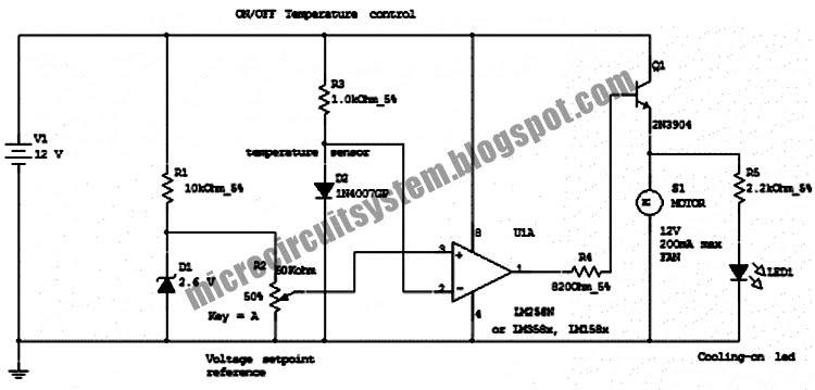 on-off temperature control circuit