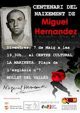 Acte a Mollet Centenari Miguel Hernandez