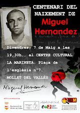 Acte a Mollet Centenari Miguel Hernandez