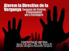 NO A LA DIRECTIVA DE LA VERGONYA