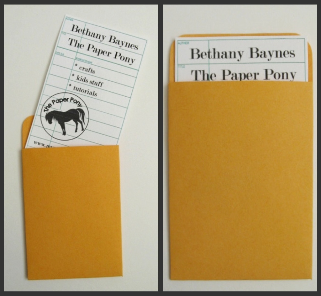 The Paper Pony Vintage Library Book Card Projects – Library Card Template