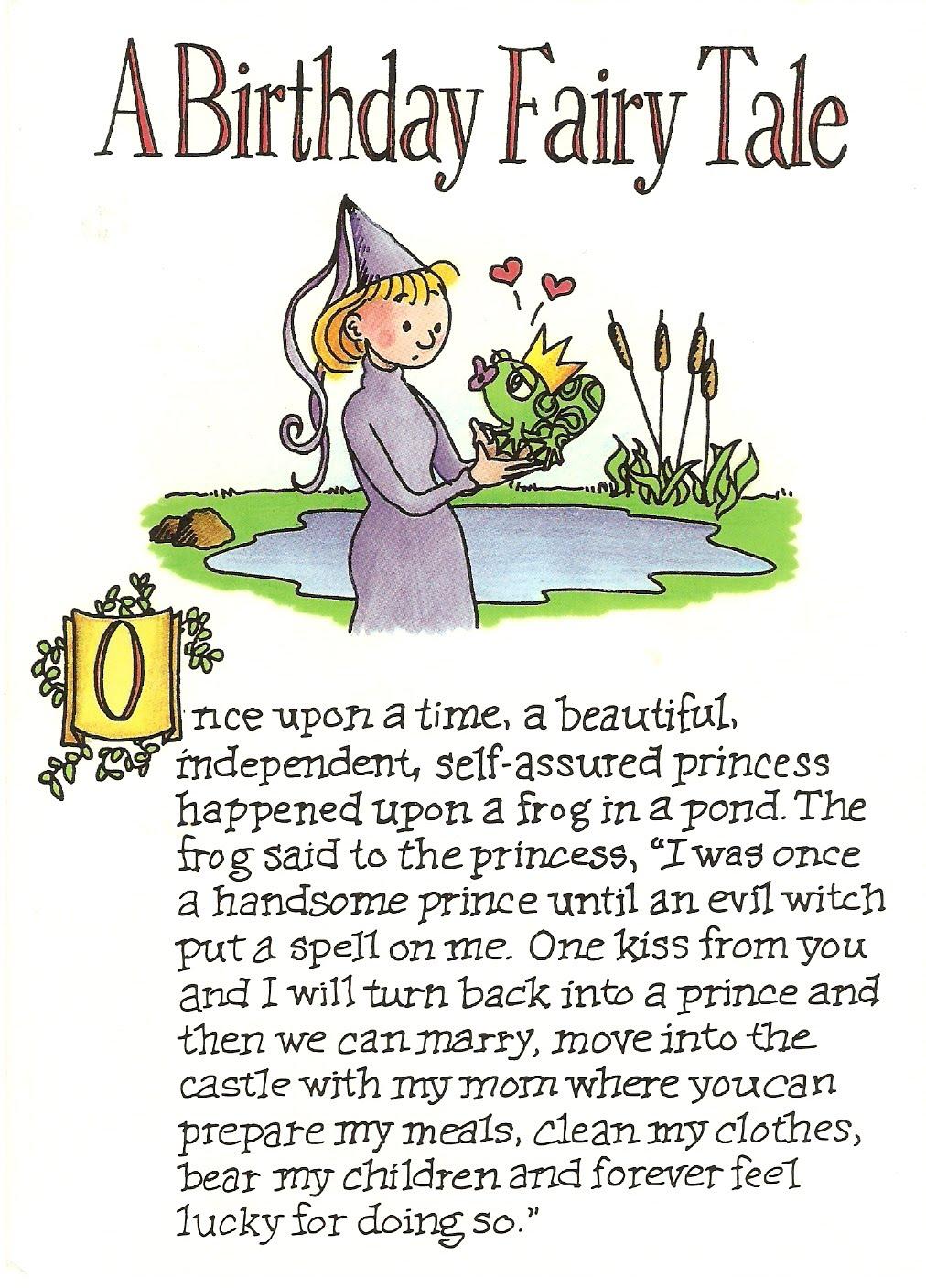am postscript A Birthday Fairy Tale – The Best Birthday Card Ever