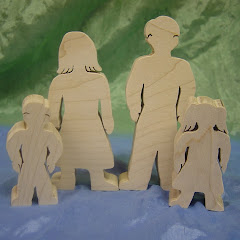 wooden family picture