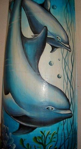 Meus golfinhos em telha