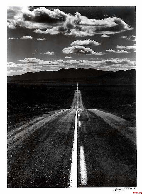 "Ansel Adams: ""Road .Nevada Desert"" 1960"