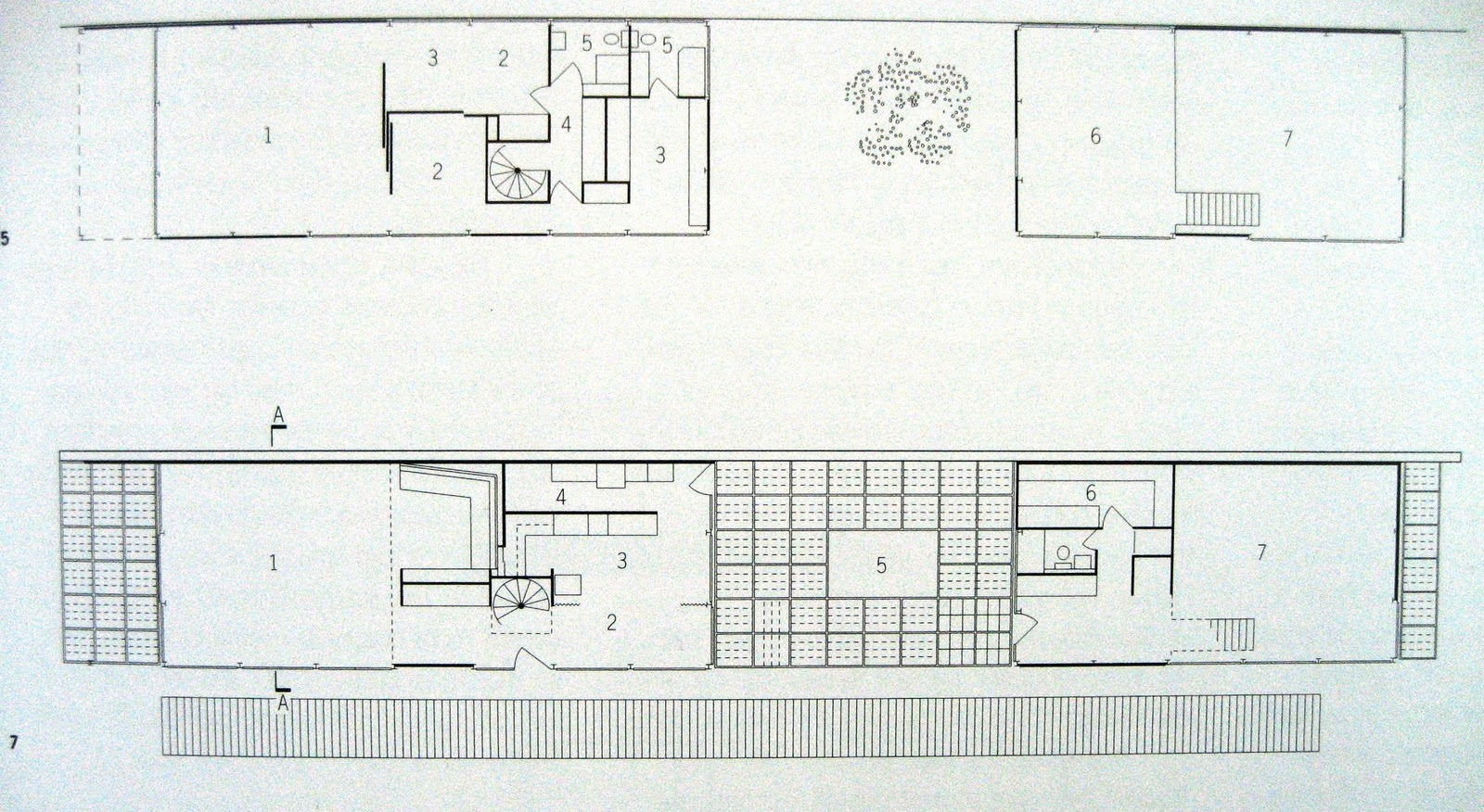 The gallery for eames house plan for Case study houses floor plans