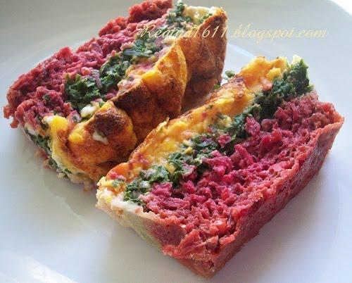 Трехцветная овощная запеканка