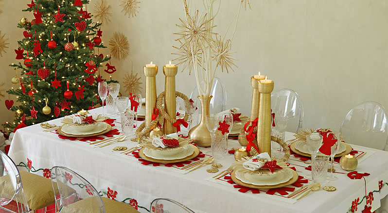 Decoracion Baños Navidenos:Christmas Dinner Table Decoration Ideas