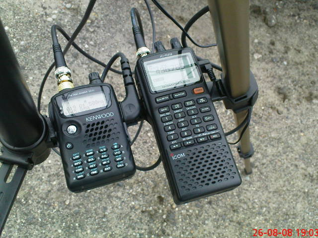Kenwood TH-F7E i ICOM IC-R20