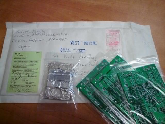 Przesyłka od Satoshiego z Japonii :-)
