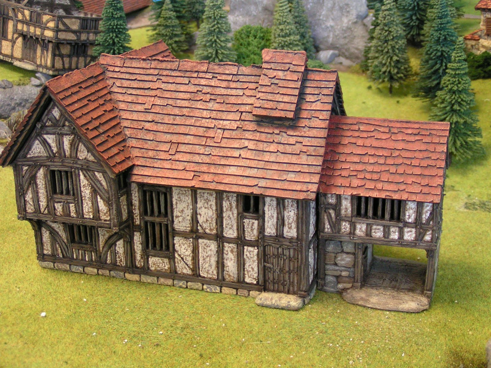 Dampf s modelling page 28mm medieval buildings from grand manner