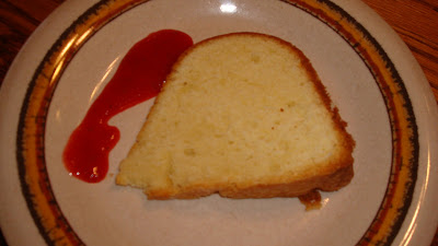 mocha me: Cream Cheese Pound Cake and Strawberry Coulis