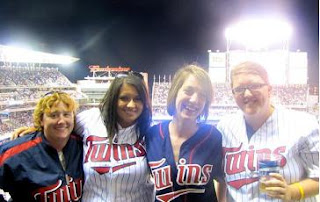 Me and my friends Becky, Jenny, and Mara at the Twins game Vs. White Soxs