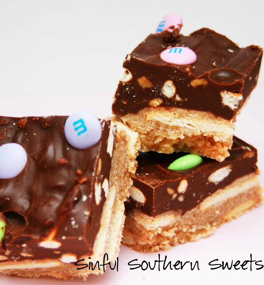 Sinful Southern Sweets: Chocolate Peanut Butter Candy Bar Cookies