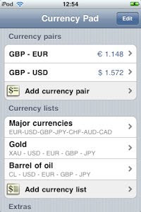 Currency Pad - A simple front menu