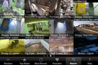 iSpy Cameras  app menu